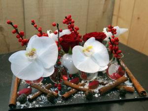Composition florale réalisée par Cédric Deshayes, de la Maison Art et Végétal