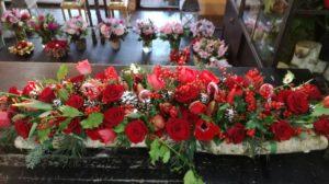 Une composition florale de Noël pour un magnifique centre de table