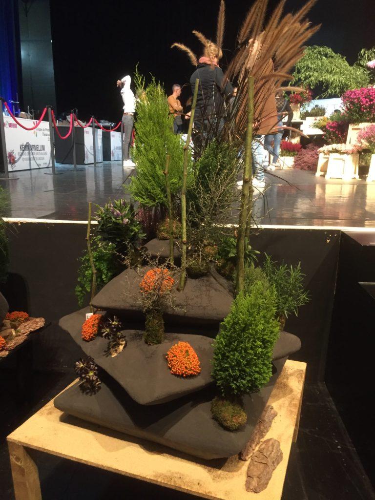Le petit jardin du Clos Lucé, une création de Cédric Deshayes vice-champion de France fleuriste 2019